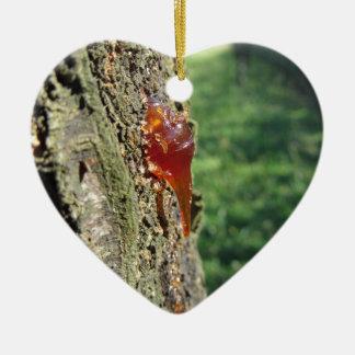 Nahaufnahme der Birnenbaumausscheidung des Keramik Ornament