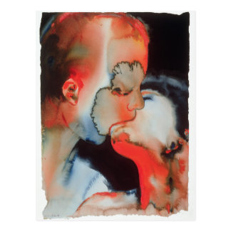 Nahaufnahme-Kuss 1988 Postkarte