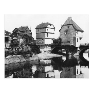 Nahe Brücke, Bad Kreuznach, c.1910 Postkarte