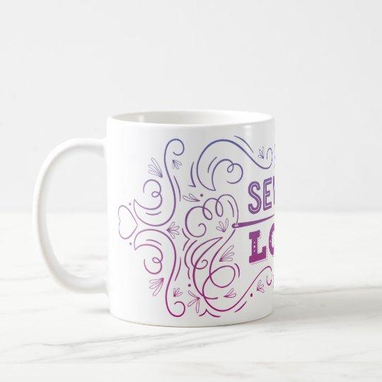 Nähen Sie in der Liebe-Tasse Tasse