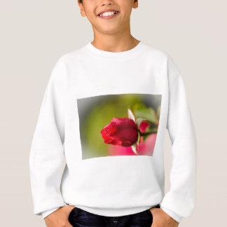 Naher hoher Entwurf der Roten Rose Sweatshirt
