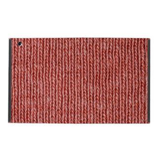 Nahes hohes der roten Baumwollfasern iPad Schutzhülle