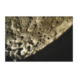 Nahes hohes Mond-Krater-Wand-Segeltuch Leinwanddruck
