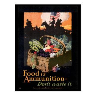 Nahrung ist Ammuniion Zweiter Weltkrieg Postkarte