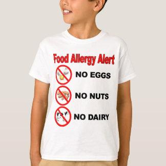 Nahrungsmittelallergie-Alarm - hinteres Logo T-Shirt