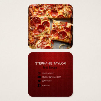Nahrungsmittelblogger-Visitenkarte Quadratische Visitenkarte