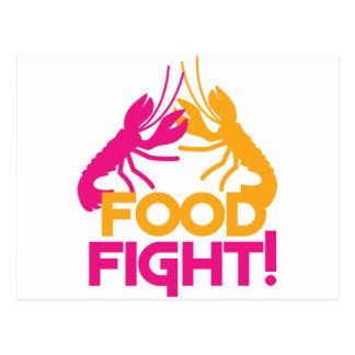 Nahrungsmittelkampf! Hummerpanzerkrebse Postkarten