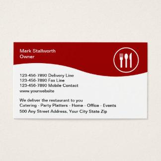 Nahrungsmittellieferungs-Visitenkarten Visitenkarte