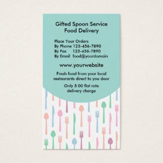 Nahrungsmittelzustelldienst Visitenkarte
