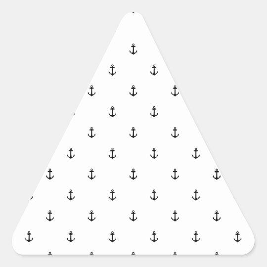 Nahtlose Beschaffenheit des Ankers Dreieckiger Aufkleber