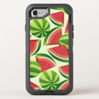 Nahtloser Hintergrund der Wassermelonescheibe OtterBox Defender iPhone 8/7 Hülle