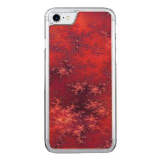 Nahtloses Fraktal-Rot Carved iPhone 8/7 Hülle