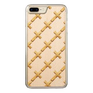 Nahtloses Goldheiliges QueriPhone 6 Plus Carved iPhone 8 Plus/7 Plus Hülle