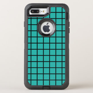 Nahtloses Musterschwarzes des Gitters + Ihr OtterBox Defender iPhone 8 Plus/7 Plus Hülle