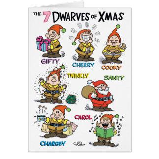 Nains de carte de vacances d'humour de Noël