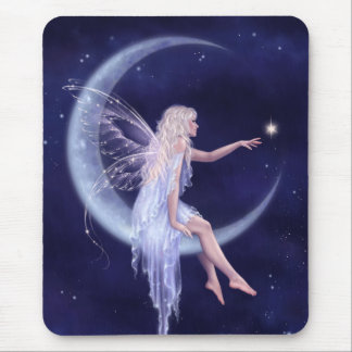Naissance d'une fée Mousepad de lune d'étoile Tapis De Souris