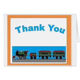 Naiver Zug danken Ihnen Karte