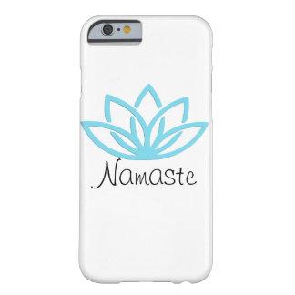 Namaste blauer einfacher Lotus Telefon-Kasten Barely There iPhone 6 Hülle