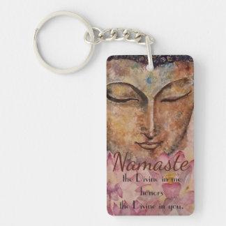 Namaste Buddha Kunst-Schlüsselkette Schlüsselanhänger