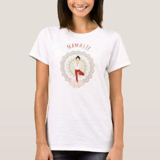 Namaste in der Baum-Pose - Yoga Asana Frauen-T - T-Shirt