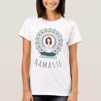 Namaste in der Lotos-Pose - Yoga Asana Frauen-T - T-Shirt