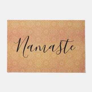 Namaste indischer Sommer-Mandala-Kupfer Türmatte