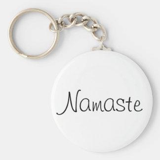 Namaste Keychain Standard Runder Schlüsselanhänger