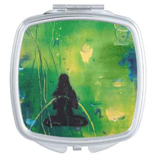 Namaste - kompakter Spiegel Schminkspiegel