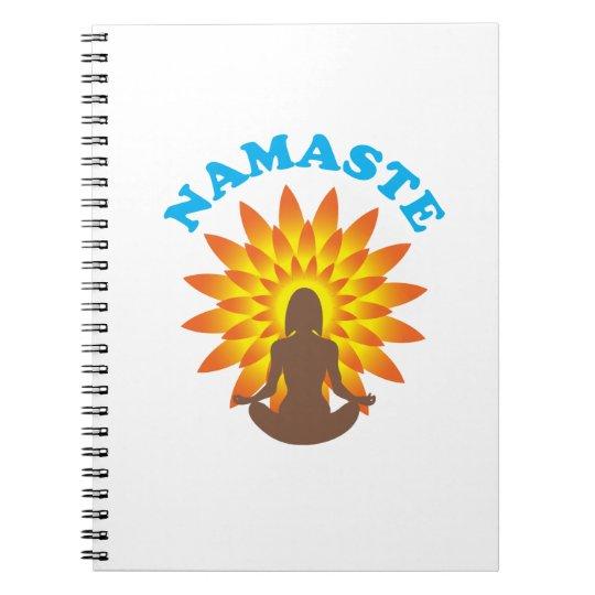 Namaste Spiral Notizblock