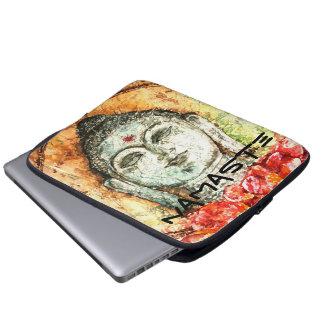 Namaste Zen-Buddha-Aquarell-Kunst-Laptop-Hülse Laptopschutzhülle