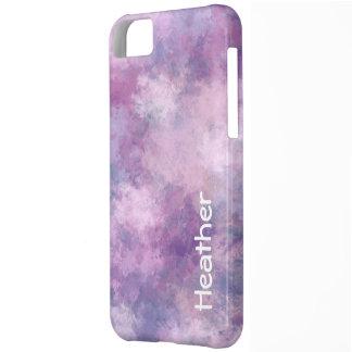 Name-abstraktes Blau, Flieder und Rosa iPhone 5C Hülle