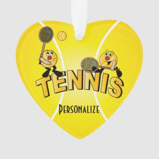Name des Tennis-Spieler-Spaß-Cartoon-| DIY Ornament