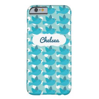 Name-niedlicher blauer Vogel iPhone 6/6s Kasten Barely There iPhone 6 Hülle