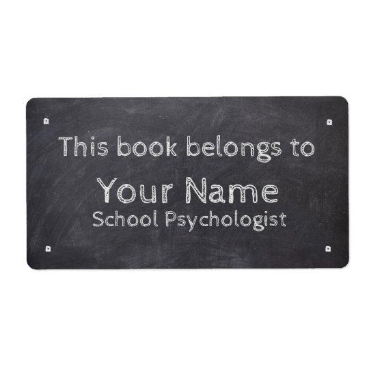 Name-Schulpsychologe-Tafel-Aufkleber Versand Aufkleber