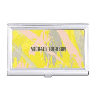 Name-Sommer-Gelb abstrakt Visitenkarten Dose