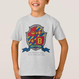 Name u. Bedeutung Brayden Jungen B adelt Schild T-Shirt