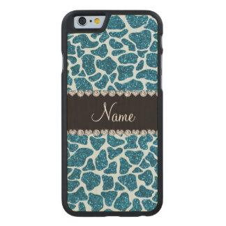 Namehimmelblau-Glittergiraffe Carved® iPhone 6 Hülle Ahorn