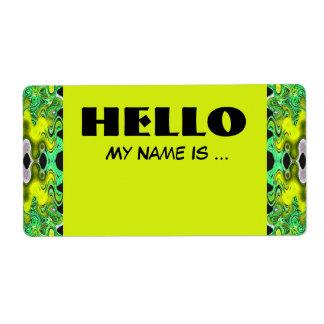 Namen-Abzeichen des gelben Grüns