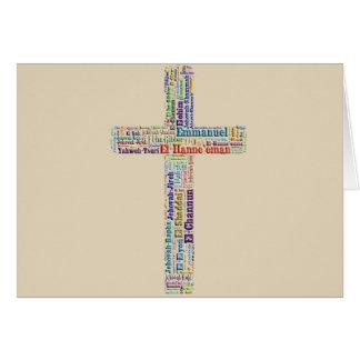 Namen des Gott-Kreuzes Karte
