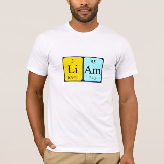 Namen-Shirt periodischer Tabelle Liam T-Shirt