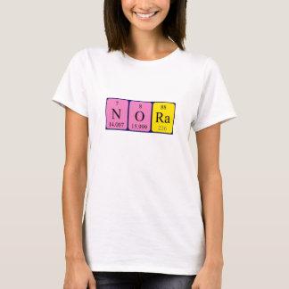 Namen-Shirt periodischer Tabelle Nora T-Shirt
