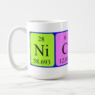 Namen-Tasse periodischer Tabelle Nicky Kaffeetasse