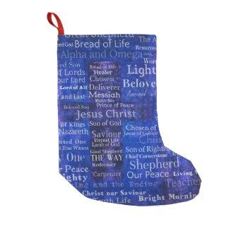 Namen und Titel Jesusblauer QUERkunst Kleiner Weihnachtsstrumpf