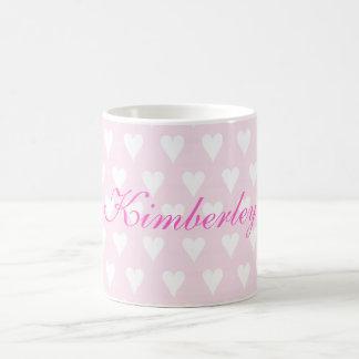 Namensherz-Tasse der personalisierten Mädchen der