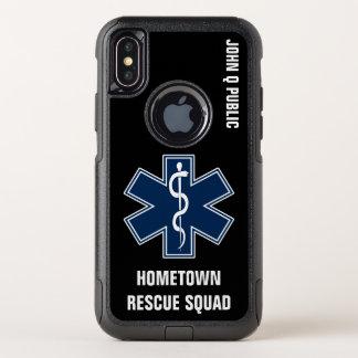 Namensschablone des Sanitäters EMT EMS OtterBox Commuter iPhone X Hülle