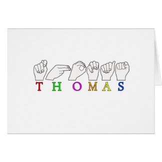 NAMENSzeichen THOMAS ASL FINGERSPELLED Karte