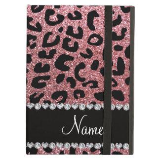Namepastellrosa-Glitter Cheetahdruck