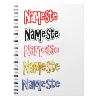 Nameste NAMESTE Hindi-Inder-hallo Bogen Spiral Notizblock