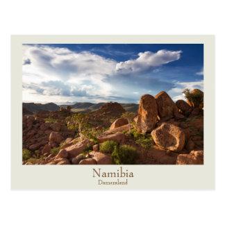 Namibia- - Damaralandpostkarte mit Text Postkarte