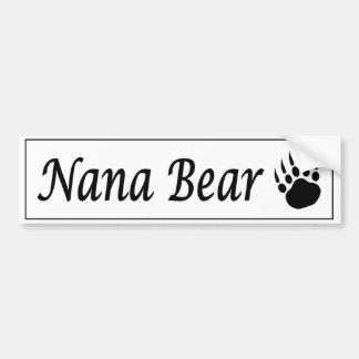 Nana-Bärnautoaufkleber mit Bärentatze Autoaufkleber